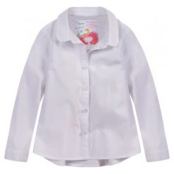 Bluzki dziewczęce z długim rękawem: Koszula z ozdobnym tyłem dla dziewczynki