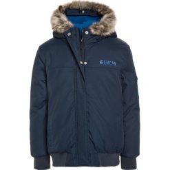 Bench HOODED BOMBER Kurtka zimowa dark navy blue. Szare kurtki chłopięce zimowe marki Bench, z bawełny, z kapturem. W wyprzedaży za 377,10 zł.