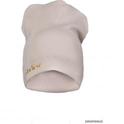 CZAPKA beż złoty haft. Żółte czapki zimowe damskie Pakamera, z haftami. Za 69,00 zł.