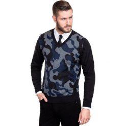 Sweter DARIO 14-110SR. Białe swetry klasyczne męskie Giacomo Conti, na jesień, m, w jednolite wzory, z materiału. Za 199,00 zł.