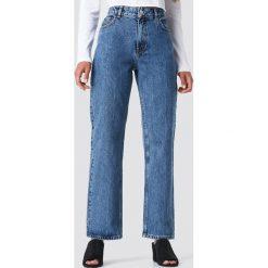 Spodnie damskie: NA-KD Trend Jeansy Front Pleat - Blue