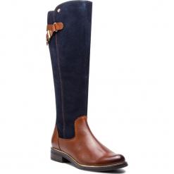 Oficerki CAPRICE - 9-25524-21 Cognac Multi 388. Brązowe buty zimowe damskie Caprice, z materiału, na obcasie. Za 549,90 zł.