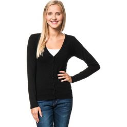 Kardigan w kolorze czarnym. Czarne swetry rozpinane męskie marki William de Faye, m, z kaszmiru. W wyprzedaży za 150,95 zł.