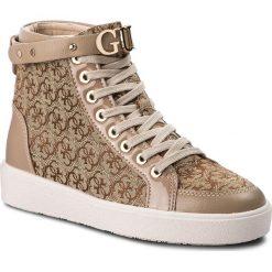 Sneakersy GUESS - FLGRC3 FAL12  BEIBR. Czarne sneakersy damskie marki Guess, z materiału. W wyprzedaży za 539,00 zł.