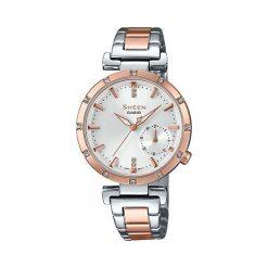 Zegarek Sheen Damski SHE-4051SPG-7AUER Swarovski Data srebrny. Szare zegarki damskie Sheen, srebrne. Za 594,99 zł.