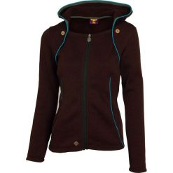 Bluzy rozpinane damskie: Woox Bluza damska Tune Fleece Ladies Hood Brown r. 36