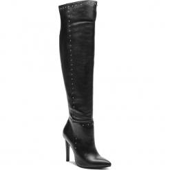 Muszkieterki CARINII - B4599 E50-000-000-C58. Czarne buty zimowe damskie Carinii, ze skóry, przed kolano, na wysokim obcasie. W wyprzedaży za 419,00 zł.