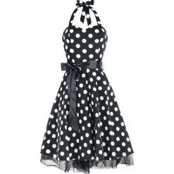H&R London Big Dot Dress Sukienka czarny. Czarne sukienki balowe marki bonprix, w grochy, z wełny, z dekoltem w serek. Za 264,90 zł.