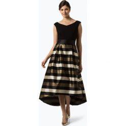 Marie Lund - Damska sukienka wieczorowa, złoty. Żółte sukienki balowe Marie Lund, w paski. Za 749,95 zł.