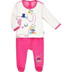 Śpiochy niemowlęce: Śpioszki w kolorze różowo-białym