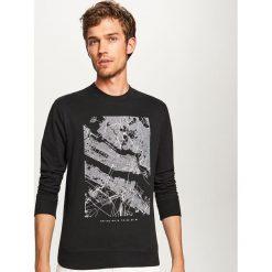 Bluza z nadrukiem - Czarny. Czarne bluzy męskie rozpinane marki Harp Team, xl, z nadrukiem, z bawełny. Za 79,99 zł.