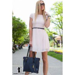 Sukienki: Sukienka Bladoróżowa 1004