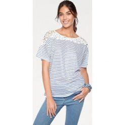 Odzież damska: Koszulka w kolorze błękitno-białym