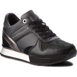 Sneakersy TOMMY HILFIGER - Sneaker Wedge FW0FW02977 Black 990. Czarne sneakersy damskie TOMMY HILFIGER, z materiału. Za 449,00 zł.