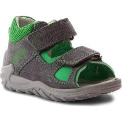 Sandały męskie skórzane: Sandały SUPERFIT - 2-00035-44 Smoke Kombi