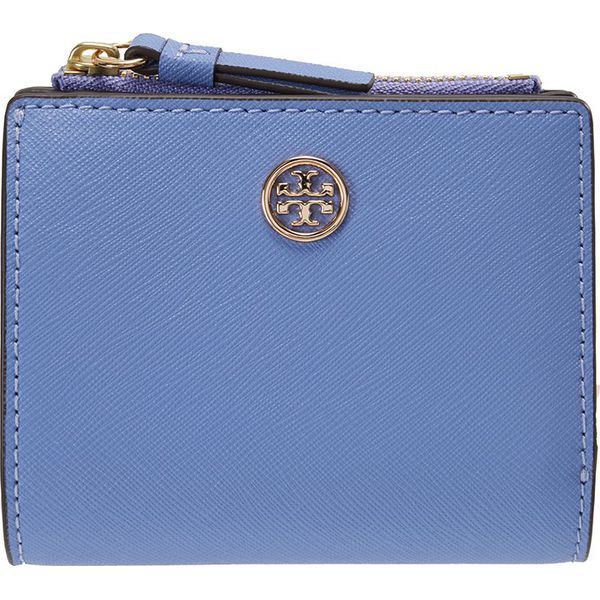 f96052dbe0511 Tory Burch ROBINSON MINI WALLET Portfel bow blue - Niebieskie ...