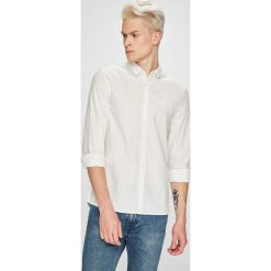 Mustang - Koszula. Szare koszule męskie na spinki marki S.Oliver, l, z bawełny, z włoskim kołnierzykiem, z długim rękawem. W wyprzedaży za 139,90 zł.