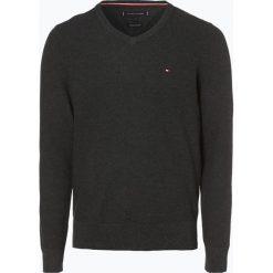 Tommy Hilfiger - Sweter męski, szary. Szare swetry klasyczne męskie TOMMY HILFIGER, l, z dzianiny. Za 449,95 zł.