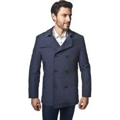 Płaszcze męskie: płaszcz glaser granatowy