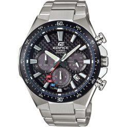 Biżuteria i zegarki męskie: Zegarek Casio Męski EFS-S520CDB-1AUEF Edifice Chrono Szafir Solar srebrny