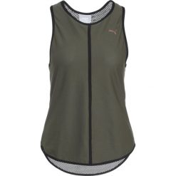 Puma EXPLOSIVE Koszulka sportowa olive. Zielone topy sportowe damskie marki Puma, l, z elastanu. W wyprzedaży za 126,75 zł.