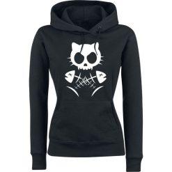 Bluzy rozpinane damskie: Cat Cross Bluza z kapturem damska czarny