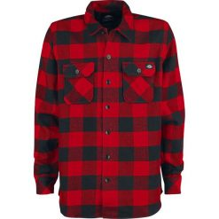 Dickies Sacramento Koszula czarny/czerwony. Szare koszule męskie na spinki marki Dickies, na zimę, z dzianiny. Za 199,90 zł.