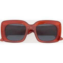 Okulary przeciwsłoneczne - Brązowy. Białe okulary przeciwsłoneczne damskie lenonki marki Reserved, l, z dzianiny. Za 39,99 zł.