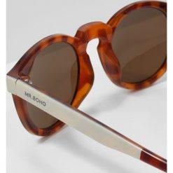 Okulary przeciwsłoneczne damskie aviatory: MR.BOHO JORDAAN Okulary przeciwsłoneczne cream/ leo tortoise