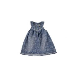 Name it  Girls Sukienka Abava light blue denim - niebieski - Gr.Moda (2 - 6 lat). Niebieskie sukienki niemowlęce Name it, z bawełny. Za 96,50 zł.
