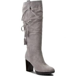 Kozaki ANN MEX - 8228 11D Szary. Szare buty zimowe damskie marki Ann Mex, ze skóry. W wyprzedaży za 369,00 zł.