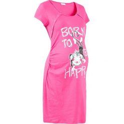 Koszula nocna ciążowa i do karmienia bonprix różowy. Czerwone bielizna ciążowa bonprix, z bawełny, moda ciążowa. Za 44,99 zł.