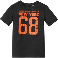 """Odzież chłopięca: T-shirt z nadrukiem w stylu """"college"""" bonprix czarny"""
