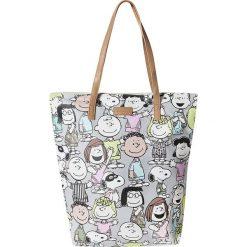 "Shopper bag damskie: Shopper bag ""Peanuts"" w kolorze szarym – 45 x 47 x 12 cm"