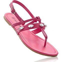 Sandały japonki bonprix różowy. Czerwone klapki damskie marki Alma en Pena, z materiału. Za 24,99 zł.