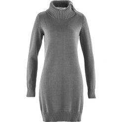 Swetry klasyczne damskie: Długi sweter bonprix szary melanż