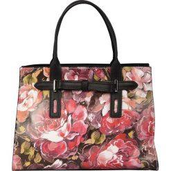 Torebki klasyczne damskie: Skórzana torebka w kolorze czerwonym – 30 x 22 x 13 cm