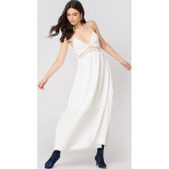 Długie sukienki: Moon River Sukienka maxi z koronką - White