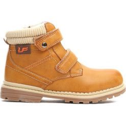 Camelowe Traperki Oppidan. Brązowe buty zimowe chłopięce Born2be, z materiału, z okrągłym noskiem, na zamek. Za 79,99 zł.