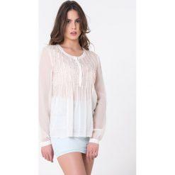 Bluzki damskie: Bluzka w kolorze jasnobeżowym