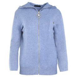Niebieski Kardigan It's Your Choice. Szare swetry klasyczne damskie marki Reserved, m, z kapturem. Za 89,99 zł.