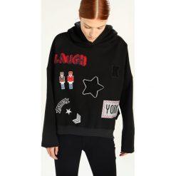 Kengstar Bluza z kapturem black. Czarne bluzy z kapturem damskie Kengstar, xs, z bawełny. W wyprzedaży za 424,50 zł.
