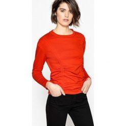 Bluza. Brązowe bluzy damskie La Redoute Collections, l, z bawełny, z długim rękawem, długie. Za 70,52 zł.