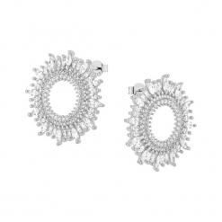 Srebrne kolczyki z cyrkoniami. Szare kolczyki damskie Alicja&Maria Premium, z cyrkonią, srebrne. W wyprzedaży za 249,95 zł.