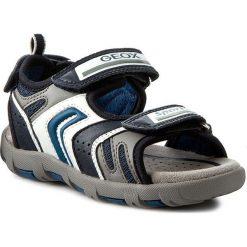Sandały GEOX - J Sand Pianeta B J6264B 014BU C0700 Morski/Niebieski. Szare sandały męskie skórzane marki Blukids. W wyprzedaży za 179,00 zł.