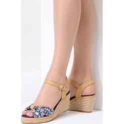 Sandały damskie: Granatowe Sandały Vibrant Green