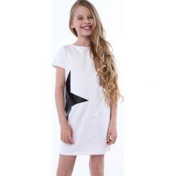 Sukienki dziewczęce: Sukienka z gwiazdą biała NDZ8245