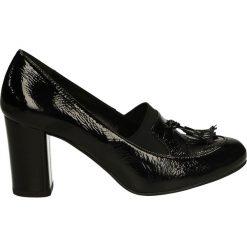 Czółenka - 23129 NPL NER. Czarne buty ślubne damskie Venezia, ze skóry. Za 199,00 zł.