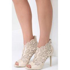 Beżowe Sandały You Look. Brązowe sandały damskie vices, na wysokim obcasie. Za 99,99 zł.