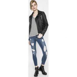 Only - Jeansy CARMEN. Czarne jeansy damskie rurki marki ONLY, l, z materiału, z kapturem. W wyprzedaży za 89,90 zł.
